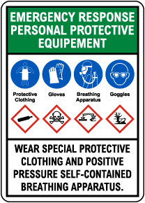Emergency Response Personal Protective Equipment GHS Sign