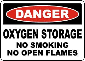 Danger Oxygen Storage Sign