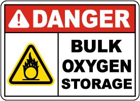 Danger Bulk Oxygen Storage Sign