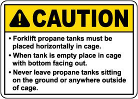 Caution Propane Tanks Sign