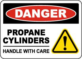 Danger Propane Cylinders Sign