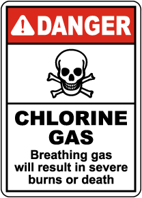 Danger Chlorine Gas Sign