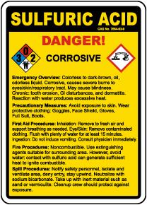 Sulfuric Acid Danger Sign