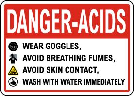 Danger Acids Signs