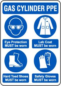 Gas Cylinder PPE Sign