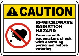 RF Microwave Radiation Sign