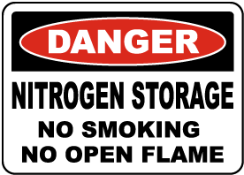 Nitrogen Storage No Smoking Sign
