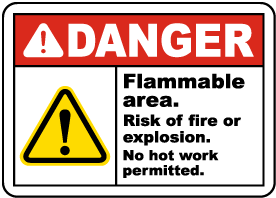 Danger Risk of Fire or Explosion Sign