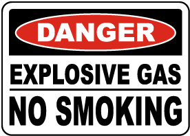 Explosive Gas No Smoking Sign