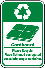 Cardboard Recycle Sign