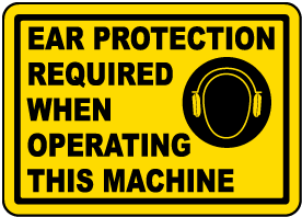 Ear Protection Required Label
