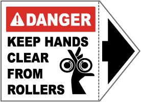 Danger Keep Hands Clear Label
