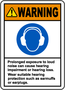 Warning Loud Noise Label