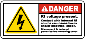 RF Voltage Present Disconnect Label