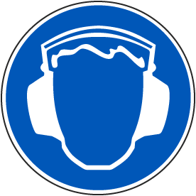 Wear Ear Protection Label