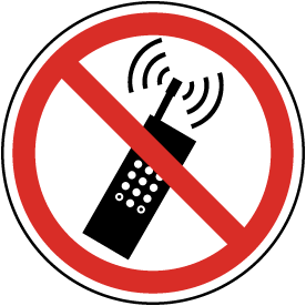 Cell Phones Prohibited Label