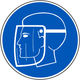 Wear Face Shield Label