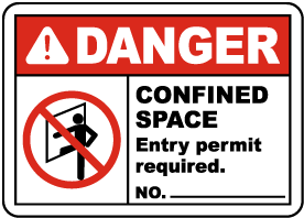 Danger Entry Permit Required Label