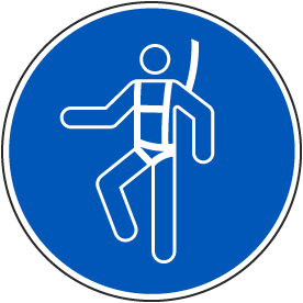 Wear A Safety Harness Label
