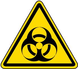 Biological Hazard Warning Label