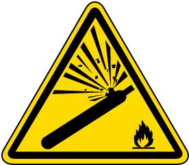 Pressurized Cylinder Warning Label