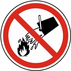 Do Not Extinguish with Water Label