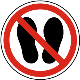 Do Not Walk or Stand Here Label