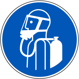 Use Self-contained Breathing Appliance Label