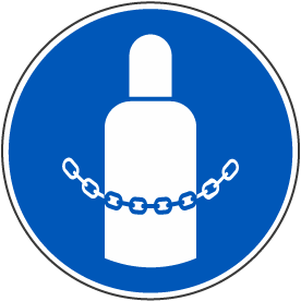 Secure Gas Cylinders Label