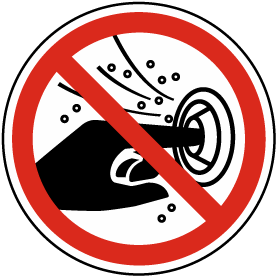 Do Not Put Finger Into the Nozzle of a Hydromassage Label