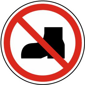 No Outdoor Footwear Label