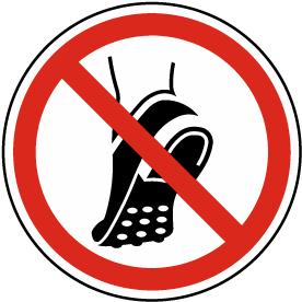 Do Not Wear Metal Studded Footwear Label