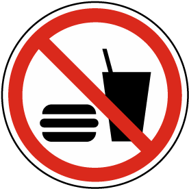 No Eating or Drinking Label