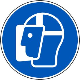 Wear a Face Shield Label