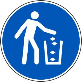 Use Litter Bin Label