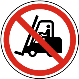No Access for Forklift Trucks and Other Industrial Vehicles Label
