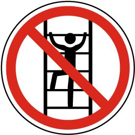 No Climbing Label