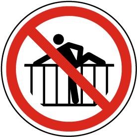 Do Not Cross Barrier Label