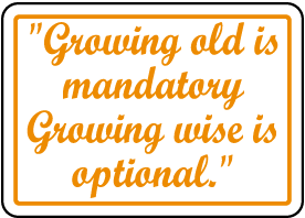Growing Wise Is Optional Sign