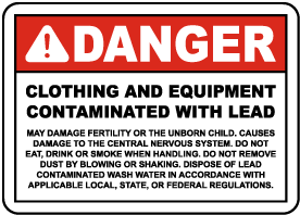 Contaminated With Lead Label