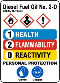 HMIS Diesel Fuel Oil No. 2-D Sign
