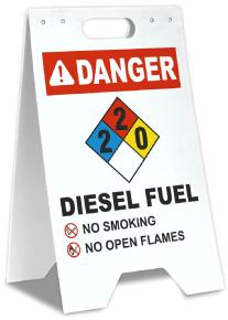 NFPA Diesel Fuel 2-2-0 Floor Stand