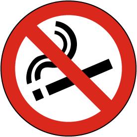 No Smoking Floor Sign