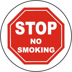 Stop No Smoking Floor Sign