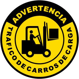 Spanish Forklift Traffic Floor Sign
