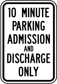 Admission and Discharge Only Sign