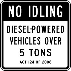 No Idling Diesel Vehicles Sign