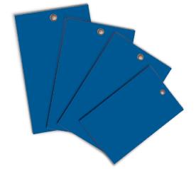 Blue Write-On Vinyl Tag
