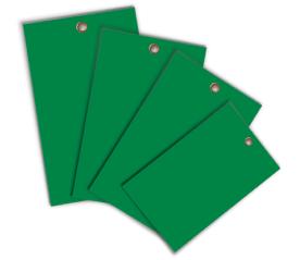 Green Write-On Vinyl Tag