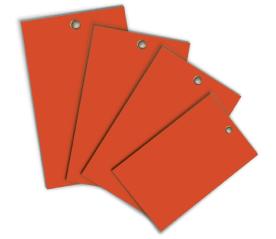 Orange Write-On Vinyl Tag